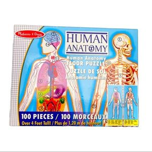 HUMAN ANATOMY FLOOR PUZZLE 100 PC DOUBLE-SIDED 4FT